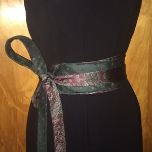 Green & Red Paisley Handmade Claybrooke Tie Belt